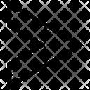 Chevron Right Stripe Sleeve Icon
