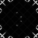 Half Arrow Right Circle Icon