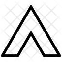 Chevron Up Stripe Sleeve Icon