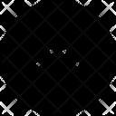 Half Arrow Up Circle Icon