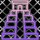 Chichen Itza Pyramid Landmark Icon