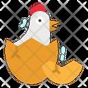 Chick Chicken Egg Icon
