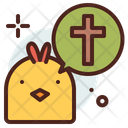 Chick Cross Hen Icon