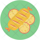 Chicken Grilled Food Icon