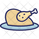 Chicken Grilled Food Roast Icon