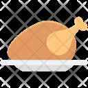 Chicken Roast Food Icon