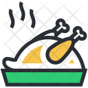 Chicken Meat Roast Icon