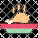 Chicken Fry Chicken Leg Piece Icon