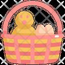 Chicken Egg Basket Icon