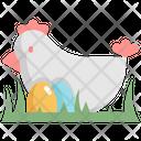 Chicken Egg Grass Icon