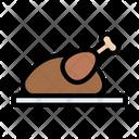 Chicken Legpiece Dish Icon