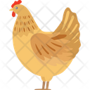 Chicken Fly Animal Icon