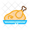 Fried Whole Chicken Icon