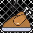 Chicken Drumstick Hot Icon