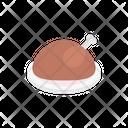 Chicken Legpiece Food Icon