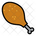 Chicken Meat Leg Icon