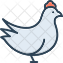 Chicken Animal Cock Icon