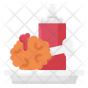 Chicken Fried Food Icon