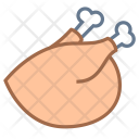Thanksgiving Chicken Roast Icon