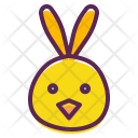 Chicken Easter Bunny Icon