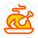 Autumn Chicken Fall Icon