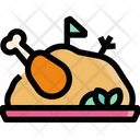 Roasted Chicken Vegetables Icon