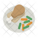 Chicken Dinner Eat Food Icon