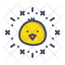 Chicken Easter Festival Icon