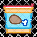 Bucket Chicken Legs Icon