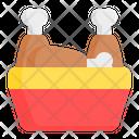 Fried Chicken Bucket Chicken Bucket Fried Chicken Icon
