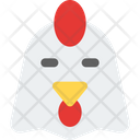 Chicken Closed Eyes Icon