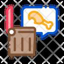 Chicken Food Trash Icon