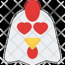 Chicken Heart Eyes Icon