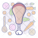 Chicken Meat Cook Icon