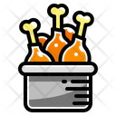 Filled Line Food Chicken Icon