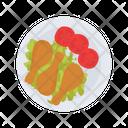 Chicken Fast Food Dish Icon