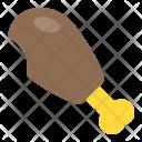 Chicken Piece Bite Icon