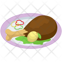 Chicken Leg Platter Icon