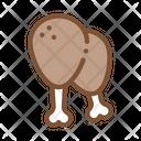 Chicken Legs Protein Icon