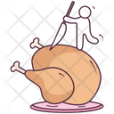 Leg Piece Thigh Meat Food Icon