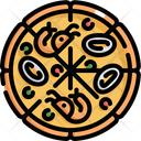 Pizza Seafood Food Icon