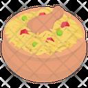 Chicken Rice Biryani Traditional Roce Icon