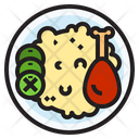 Rice Chicken Food Icon