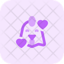 Chicken Smiling With Hearts Icon