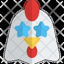 Chicken Star Struck Icon
