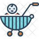 Child Baby Stroller Pram Icon