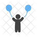 Child Balloons Playing Icon