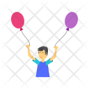 Child Balloons Play Icon
