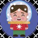 Kid Child Christmas Icon