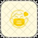 Child Love Emoji With Face Mask Emoji Icon